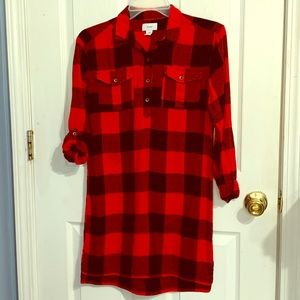Girls Old Navy Plaid Flannel Dress